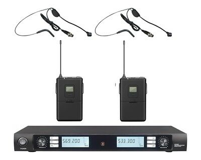 UHF Professional Wireless Headset Headworn Microphone mic System 500 MHZ Band