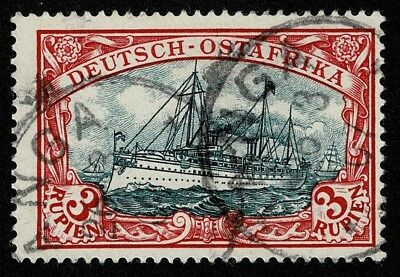 """German East Africa Stamp Scott#21a 3r Kaiser's Yacht """"Hohenzollern"""" Used"""