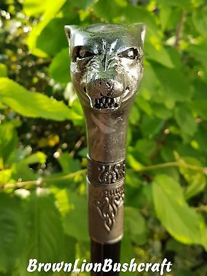 Wolf Head Walking Swagger Stick 'ex-Sword Cane Stick' Larp Cosplay Costume