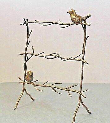 Metal Gold Colour Display Stand Birds & Branches Decor Display House Home Cute