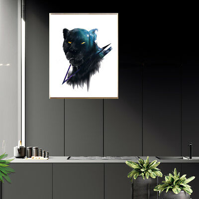 Black Lion Head Canvas Art Painting Poster Picture Home Bar Wall Decor Unframed