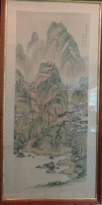 Japanese Ink Painting on Silk In Chinese Style (circa 1860, Haruki Nanmei)