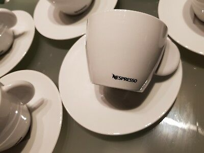 NESPRESSO  6 Kaffeetassen  Cappucino PROFESSIONAL COLLECTION  inkl. Untertassen