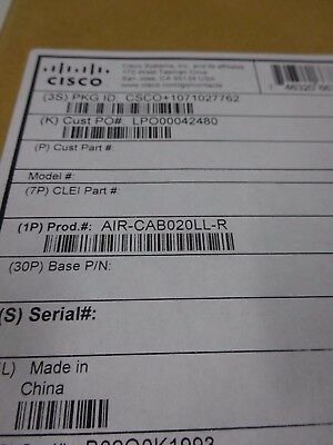 Cisco Air-Cab020Ll-R. Free Shipping - 30 Day Warranty.