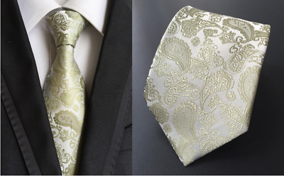 Tie Black Silk Mens Paisley Woven Classic 2018 Wedding Necktie JACQUARD New 09