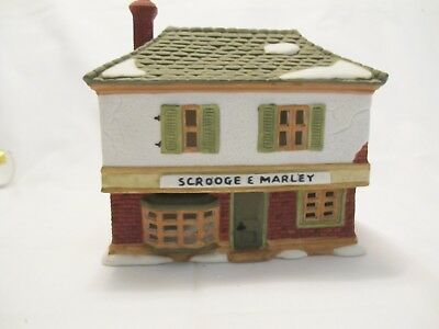 Dept 56 SCROOGE & MARLEY COUNTING HOUSE Dickens Village  #65005 ~ NO CORD/LIGHT