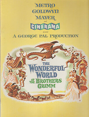 1962 New Brochure - The Wonderful World Of The Brothers Grimm - Cinerama - Mgm