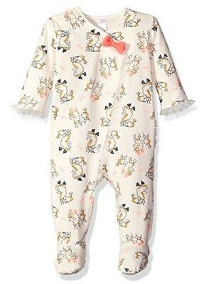 PETIT LEM Baby Girl's Ruffled Poodle Printed One Piece Footie Outfit 9 MONTHS