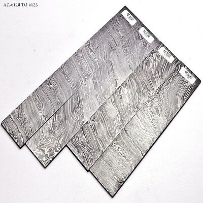 Damascus Steel Billet Blank,, Knife Making 250 To 310 mm AZ-6120 TO 6123