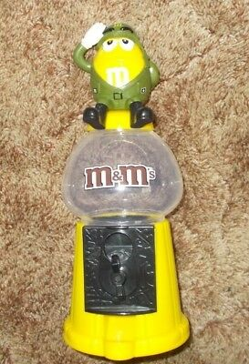 M&M's Yellow Military General Army Candy Dispenser Rare