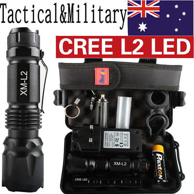 20000LM Police Tactical*Military CREE XML XM-L L2 LED Flashlight Torch Gift Kit