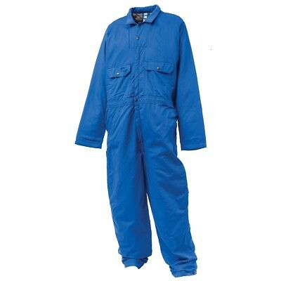 Mens Insulated FR Coverall Wenaas Blue Hip-Zip Classic Fire Resistant Workwear