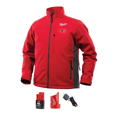 Milwaukee RED Heated Tough Jacket Kit w/M12 Battery & Charger 202R-21