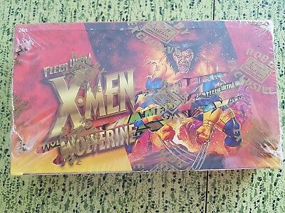 Xmen Wolverine Trading Cards FACTORY SEALED 24 Pack Fleer Ultra Skybox 1996 RARE