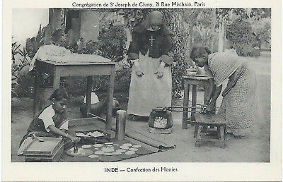 INDIA - HOST MAKING  (looking as chapatis) - 1920s - excellent condition