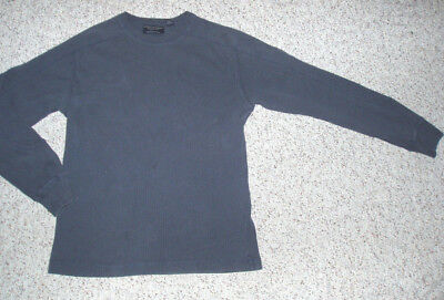 Men's Boys AE AMERICAN EAGLE Blue Long Sleeve Pullover Shirt~Size S