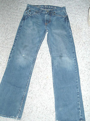 Men's Boys AMERICAN EAGLE Straight Leg Denim Blue Jeans~26 x 28