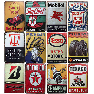 Retro Vintage Tin Signs Man Cave Metal Posters Plaques Garage Home