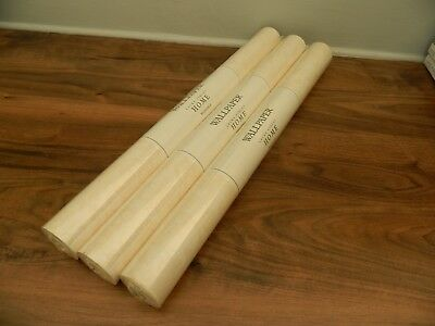 Laura Ashley wallpaper samarand  ivory white  3 rolls new and sealed (lot 1 )