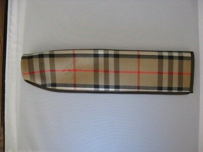 Vintage Burberry Of London Check Umbrella Sleeve Cover Sheath Brown Plaid