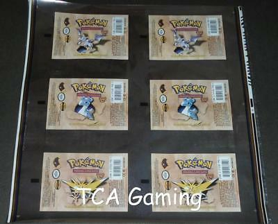 DOUBLE Fossil Set UNCUT Booster Pack WRAPPER Free JUMBO Top Loader! Pokemon