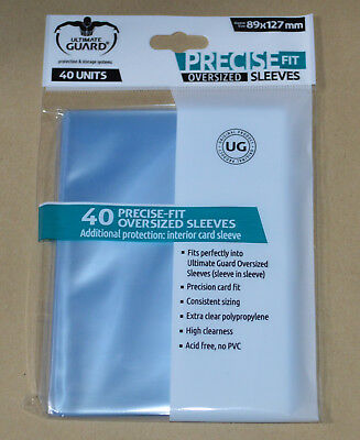 40-Sleeves, Transparent Ultimate Guard Oversized Precise Fit Sleeves
