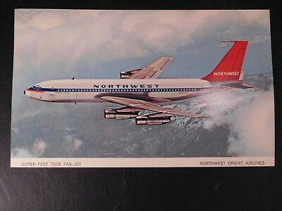 Northwest Orient Airlines Postcard Fan-Jet  ..6