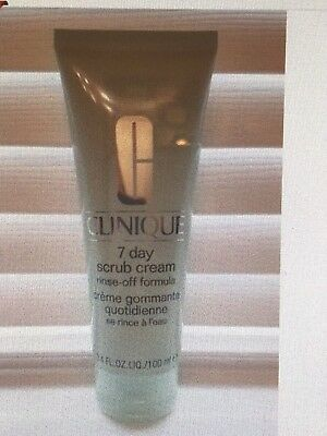 BRAND NEW 100ml CLINIQUE 7 DAY SCRUB CREAM RINSE-OFF FORMULA ***ONLY £15.99***