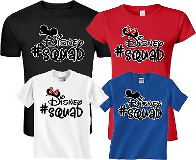 c0f35bd3c4 FAMILY VACATION Disney Squad Mickey And Minnie Matching Custom T-Shirts