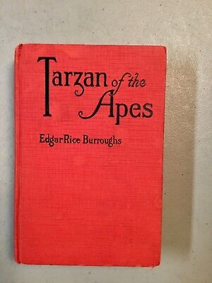 Tarzan of the Apes by Edgar Rice Burroughs,1st Ed by Grosset & Dunlap, June 1914
