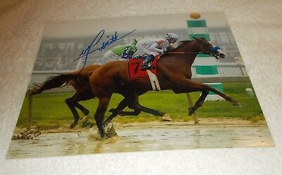 36a43d0a5a6 Justify Mike Smith 2018 Kentucky Derby Signed Autograph 8X10 Horse Racing  Photo