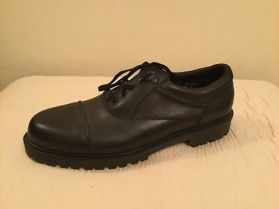 Mens Clarks Black Leather Lace Up Shoes Size Uk 11 Eur 45 Brand New