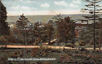YONKERS, NY New York    CITY VIEW from OLD LIBRARY    c1900's UDB Postcard