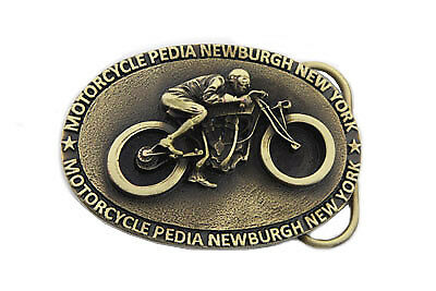 Motorcyclepedia Board Track Belt Buckle for All Motorcycle Lovers! Harley