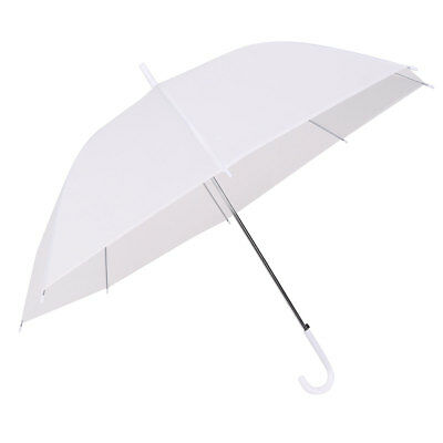 Dome White Transparent Umbrella Large Wedding Ladies for Rain Sun Parasol Scrub