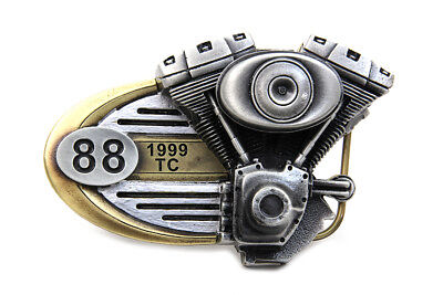 "Twin Cam Belt Buckle 88"" for display or keeping the pants up!"