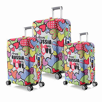 "Love Elastic Luggage Protective Covers Protect Dust Bag For 18""~28"" Suitcase"