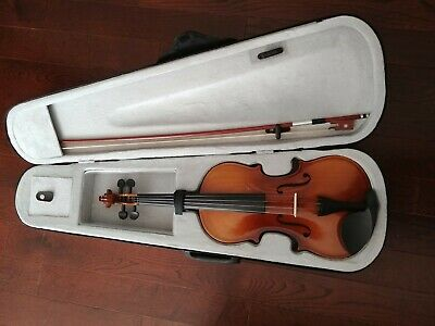 4/4 Full Size Acoustic Violin Fiddle with Case Bow Rosin