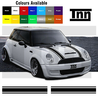 MINI One MINI Cooper Bonnet Stripes Vinyl Graphics Decals Stickers Livery