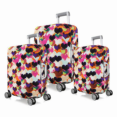 "Heart Design Dustproof Elastic Luggage Cover Protective Bag for 18""~24"" Suitcase"