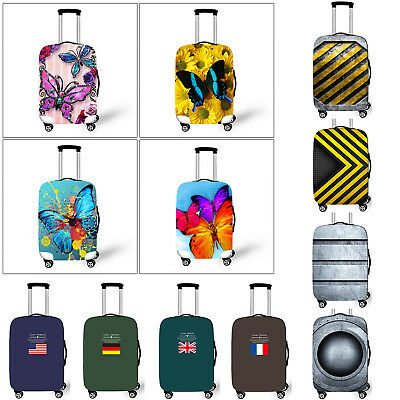 S M L Elastic Travel Luggage Spandex Cover Protector For 18'' ~ 28'' Suitcase