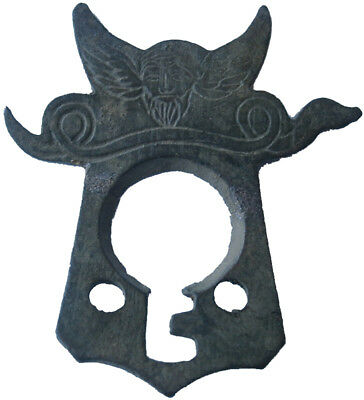 Roman Empire or Viking Part of the lock Holey for KEY Head of warrior or god