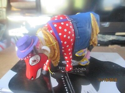 Cow Parade 2002 Bull Fight'n Bossie #9150 with Box Tag Retired RARE Rodeo