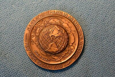 1964-1965 WORLDS FAIR BRONZE MEDAL 300th ANNIVERSARY OF THE CITY OF NEW YORK