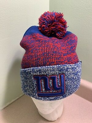 aab54ecb8fd NEW YORK GIANTS Winter Hat  47 BRAND Mens Static Cuffed Knit Official NFL