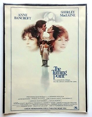 The Turning Point Movie Vintage Print Ad 1977 Shirley MacLaine Anne Bancroft