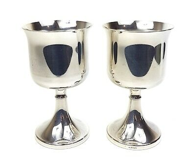 Superb Vintage IANTHE English Silver Plated WINE / SHERRY GOBLETS CHALICES PAIR