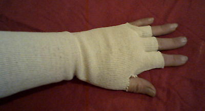Cotton Polyester Fingerless Glove Liners~ 6 Pair New (5876)