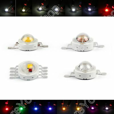 5W LED Beads Lamp Diodes High Power Chip Whi Red Blu Grn IR Spectrum BS1