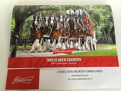 "2019 Budweiser Clydesdales Annual Calendar   ""this Is Beer Country"""